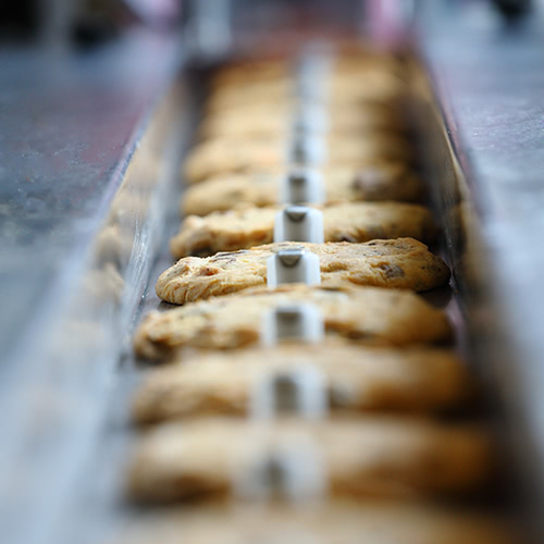 Rows of cookies